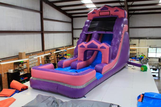 ADORABLE Pink Princess Slide 18ft And So Cute Rents For 270 As A Water Unit 220 Dry Has Landing Pool Too